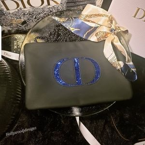 """Dior """"CD"""" Cosmetic pouch to crossbody bsg"""